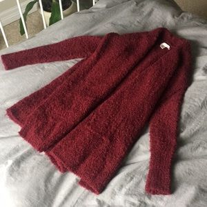 Warm Burgundy Cardigan